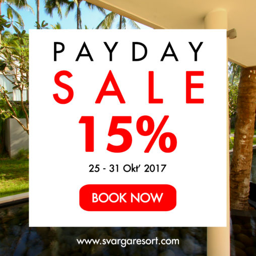 PAYDAY SALE SVARGA RESORT PROMO